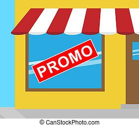 Promotion Sign Representing Online Sale 3d Illustration