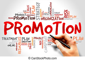 Promotion - Word Cloud with Promotion related tags