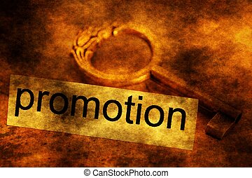 Promotion tag and old key