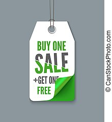 Promotion tag buy 1 get  free