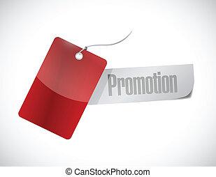 promotion tag sign illustration design