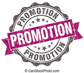 promotion, violet, grunge, retro style, isolé, cachet