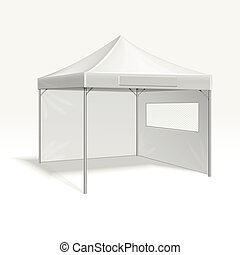 Promotional advertising folding tent vector illustration for...