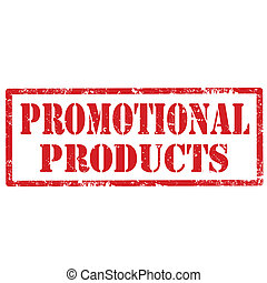 Grunge rubber stamp with text Promotional Products, vector illustration