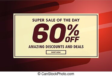 promotional sale voucher poster design template in vector