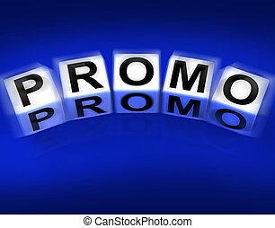 promotions, blocs, promo, radiodiffusion, affichages, ...
