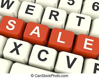 promotions, clés, symbole, vente, escomptes, orthographe