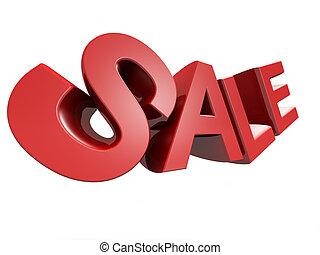 promozione, concetto, isolato, icona, vendita