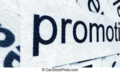 promozione, etichetta, su, parola, nuvola