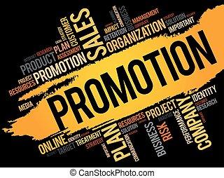 promozione, parola, nuvola