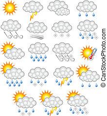 pronóstico meteorológico, empresa / negocio, icono