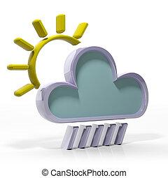 pronóstico meteorológico, icono, 3d
