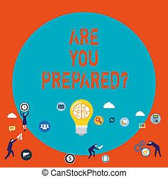 prontezza, concetto, parola, affari, evaluation., testo, scrittura, preparazione, pronto, lei, valutazione, preparedquestion.