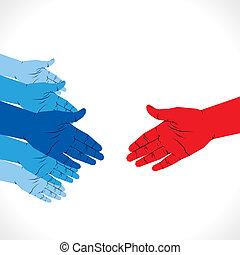 pronto, aperto mão