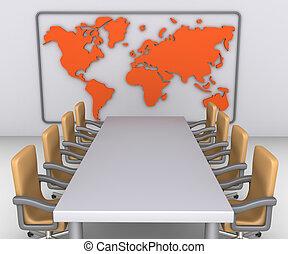 pronto, cominciare, il, riunione