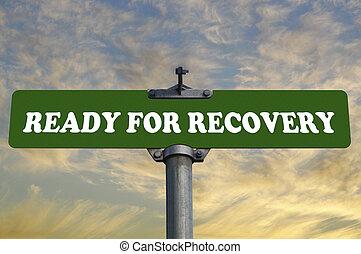 pronto, recuperação, sinal estrada
