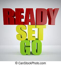 pronto, set, andare