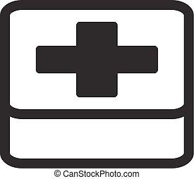 Appartamento Simbolo Kit Servizi Aiuto Icon Primo Medico