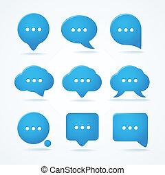 pronto, texto, abstratos, fala, clouds.