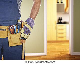 pronto, trabalho, handyman