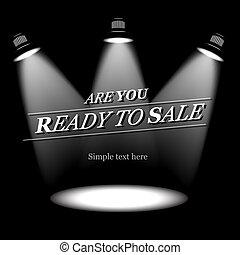 pronto, venda, vetorial, fundo