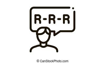 Pronunciation Icon Animation. black Pronunciation animated icon on white background