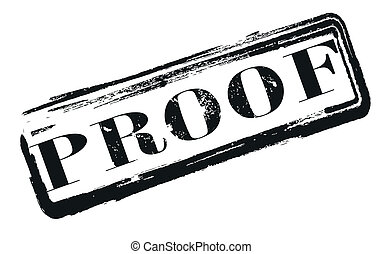 proof label stamp whit on vector illustration