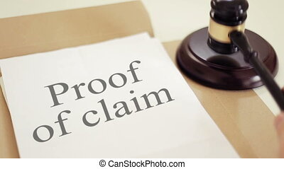 Proof of claim Legal Concept - Shot of Proof of claim Legal...