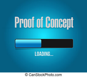 proof of concept loading bar sign concept illustration ...