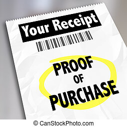 Proof of Purchase Your Receipt Buying Products Store Barcode...