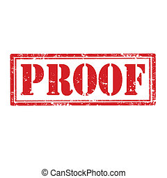 Proof-stamp - Grunge rubber stamp with word Proof,vector...