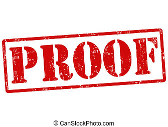 Proof grunge rubber stamp over a white background, vector illustration