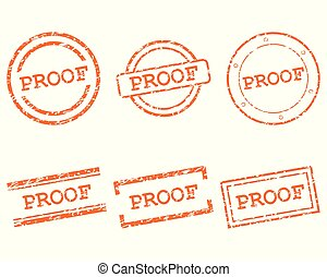 Proof stamps