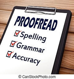 proofread clipboard illustration