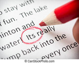 proofreading essay errors stock photo search pictures and photo  proofreading its error