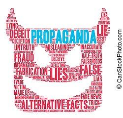 Propaganda Word Cloud - Propaganda word cloud on a white...