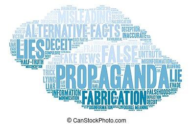 Propaganda Word Cloud - Propaganda word cloud on a white ...