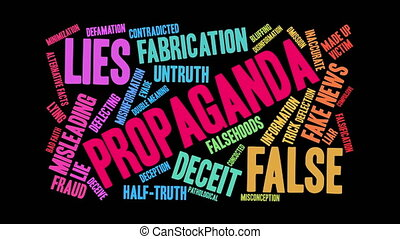Propaganda Word Cloud - Propaganda word cloud on a white...