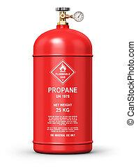 propan, verflüssigt, industrie, behälter, gas