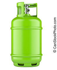 Propane cylinders with compressed gas - Green propane...