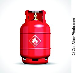 Propane flemmabe gas bottle