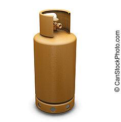 Propane gas - 3D render of a propane gas bottle