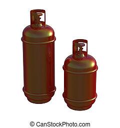 Propane gas cylinder isolated on white background . 3d illustration