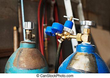 propano, metro, Globos,  gas, presión