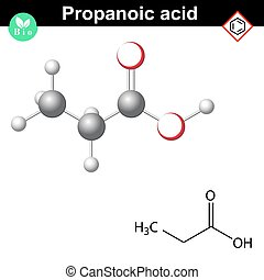 Propanoic acid structure