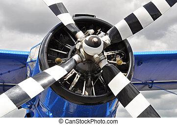 propeller, årgång, plan