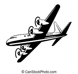 Propeller aeroplane - Artwork on air transport
