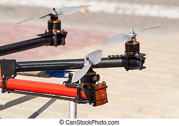 Propeller closeup drone