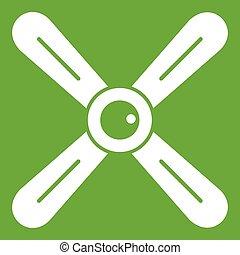 Propeller icon green