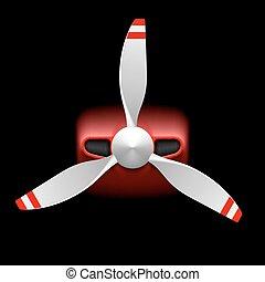 propeller, licht, motorflugzeug